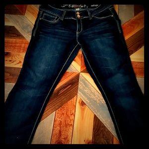 👖👖 GUC Dark Wash Skinny Boot Cut Jeans